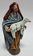 Arte Pesebre Pastor con Cordero al Brazo, para Figuras de 12 cm.