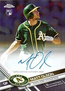 2017 Topps Chrome #RA-MO Matt Olson Certified Autograph Baseball Rookie Card
