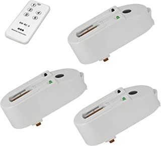 Aiwode 赤外線リモコンや、ライトを入切する商品を、ライティングレール用、切アダプタリモコン 手元でON/OFF切替可能 複数のスポットライトを操作、PSE認証、(白い3個入り受信機+1個入り送信機)。