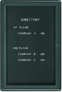 Quartet 2963LM Enclosed Magnetic Directory, 24 x 36, Black Surface, Graphite Aluminum Frame