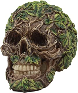 Ebros The Horned God Wiccan Greenman Skull Statue 5.75