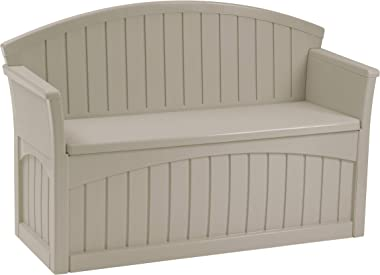 Premium Storage Bench Furniture Seat for Patio Deck or Garden Seating Outdoor in Suncast Small Design