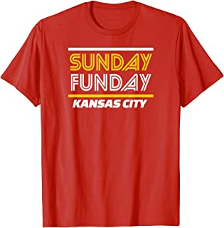Sunday Funday KC Football Kansas City Fundays Fan Kc T-Shirt