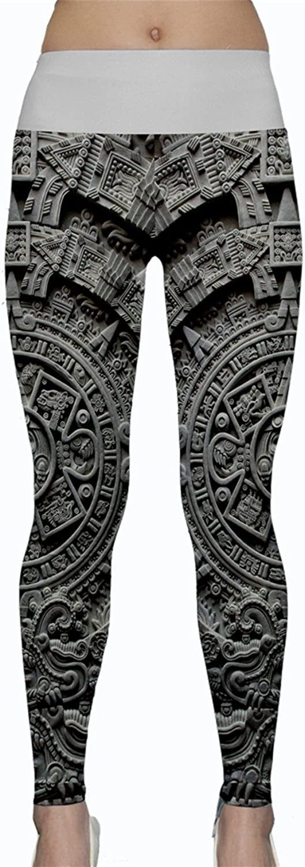 WorldX Womens Aztec Star Artifact Calendar Sunstone Mexican Yoga Leggings