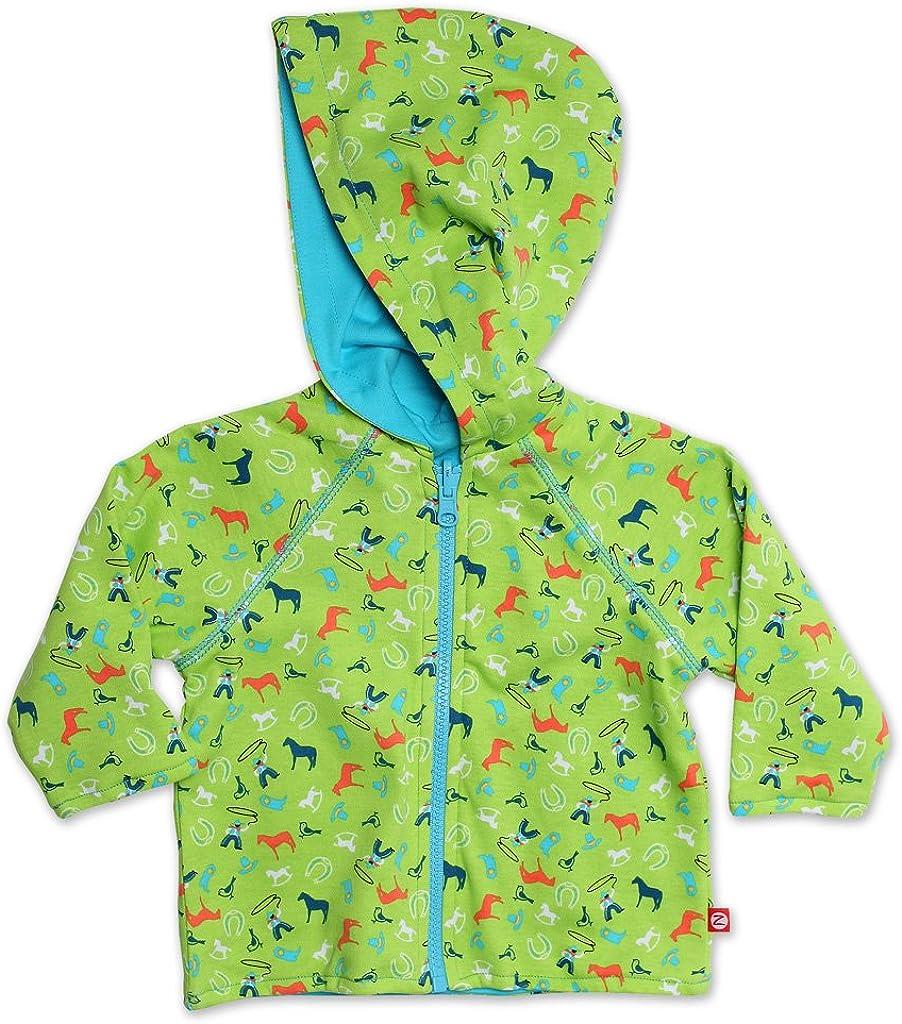 Zutano Unisex Baby CowBoys Reversible Zip Hoodie