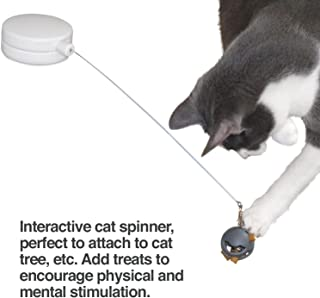 PetFusion Interactive Cat Spinner - Rotating Cat Toy with Multi-Surface Adhesive - Cat Operated, Encourages Fitness and Mental Stimulation
