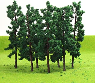 D8030 40PCS Model Trees-80mm/3.14 inch TT HO Scale Train Layout Iron Wire Trees,Diorama Supplies, Railroad Scenery, Fake Trees for Projects, Woodland Scenery for DIY Crafts or Building Model New