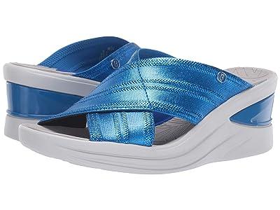 Bzees Vista (Bright Blue Metallic Fabric) Women