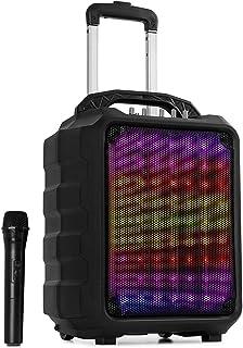 "auna Moving 80.1 LED mobiel PA-systeem - 100 watt max., XMR-Bass-technologie, 8""woofer / 3"" tweeter, LED-lichteffect, UH..."