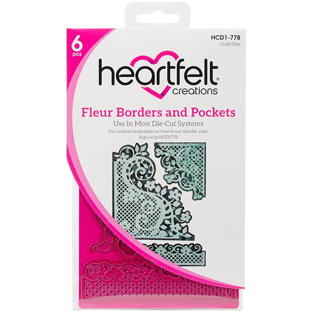 Heartfelt Creations Fleur Borders & Pockets .15