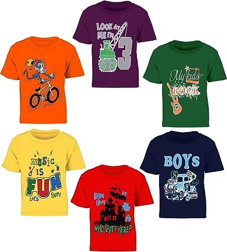 Kiddeo Kids Boys T-Shirts (Pack of 6)