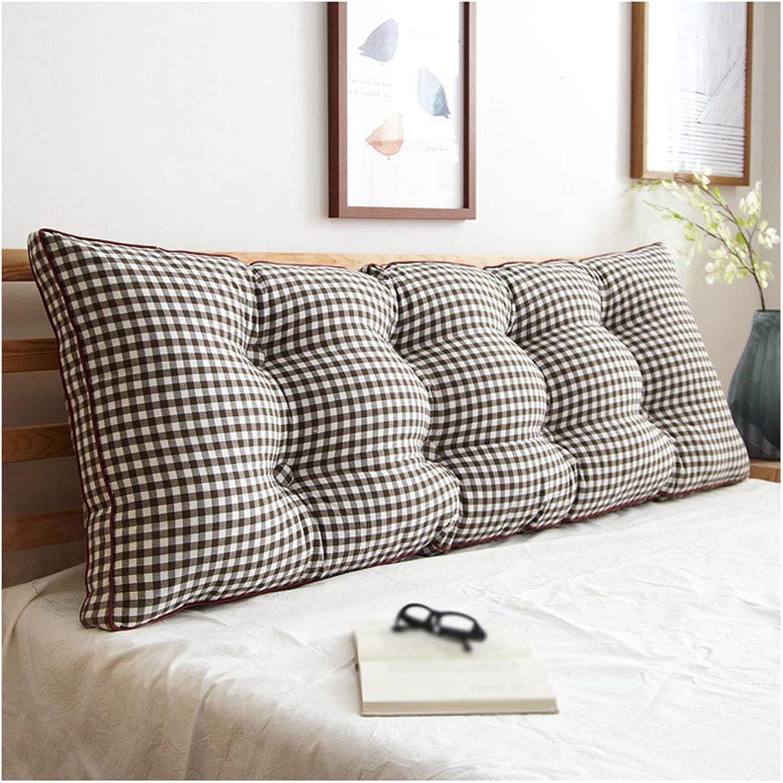 ZHULIAN Coussin de dossier en coton Big Back Cushion (Couleur   noir and blanc Grid, Taille   120CM)