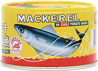 Taiwan Canned Seafood Mackerel Fish in Chili Tomato Sauce 7oz - Total of 6 packs