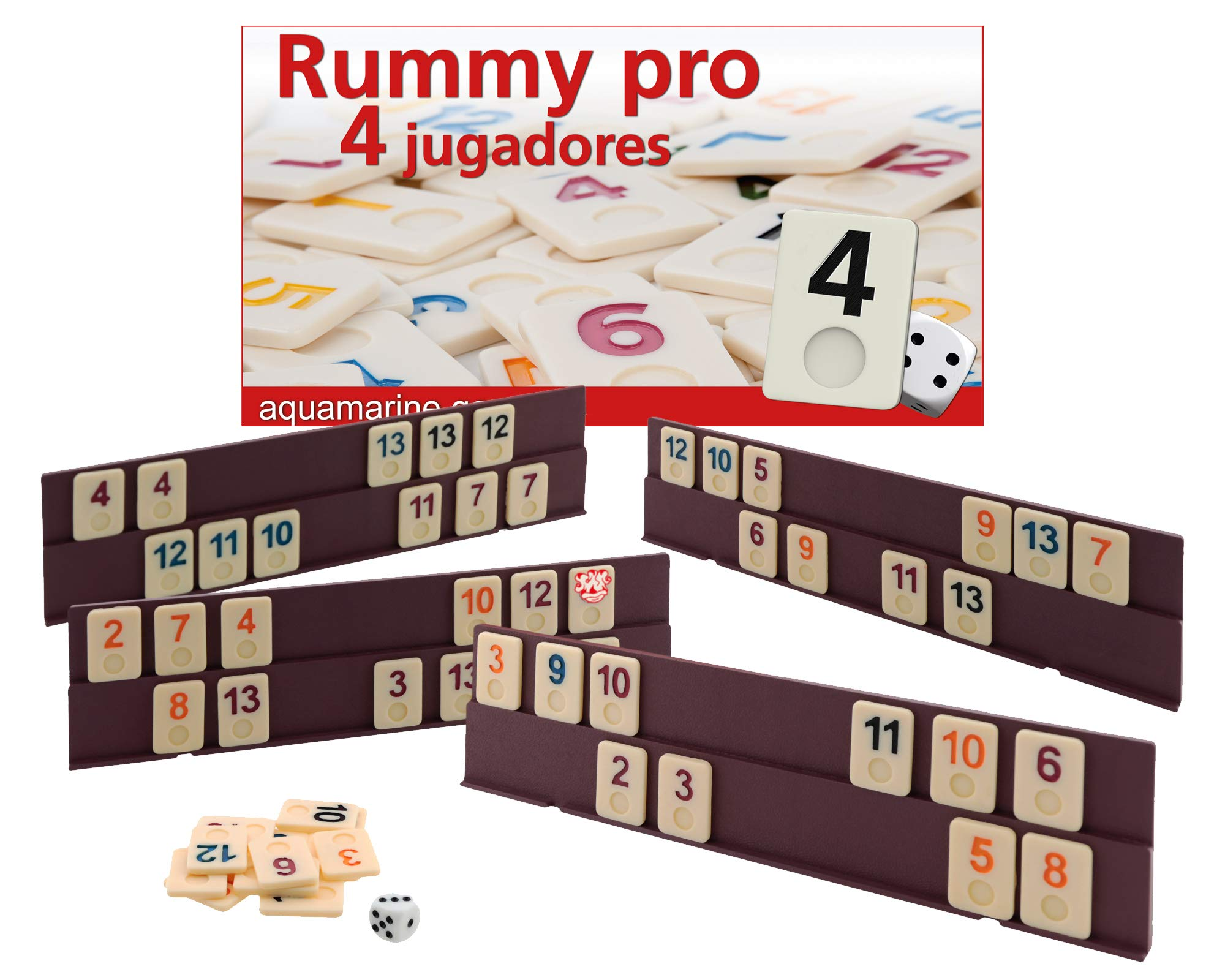 Aquamarine Games - Rummy (Compudid DO005): Amazon.es: Juguetes y juegos