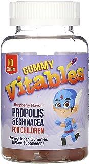Vitables Gummy Propolis & Echinacea for Children, No Gelatin, Raspberry Flavor, 60 Vegetarian Gummies