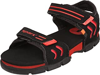 Sparx Kids's Black Red Synthetic Casual Sandals (1 C UK)