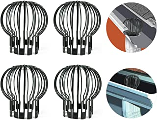 Air Jade Gutter Guards Downspout Filter Strainer, Down Pipe PP Gutter Guard, Stops Leaves And Debris Anti-Blockage Cleaning Tool, 4 pack