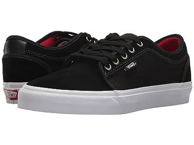 Vans Chukka Low (Black/White/Chili Pepper) Skate Shoes