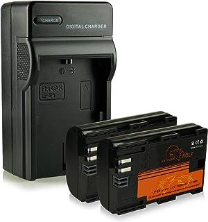 Cargador + 2x ExtremeWolf Batería LP-E6 compatible con Canon EOS 5D Mark II / III 6D 7D Mark II 60D 70D