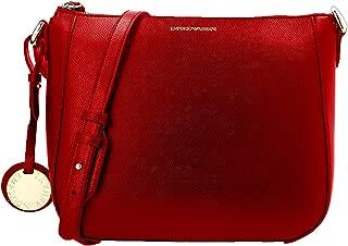 EMPORIO ARMANI borsa piccola con tracolla e logo rosso rubino