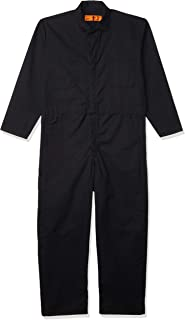 Red Kap Men's Long Sleeve Twill Action Back Coverall, Black, 52