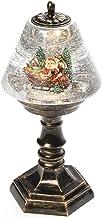 Konstsmide LED Snow Globe Table Lamp Santa and Sleigh Scene/Christmas Lantern Warm White Diode/Transformer or Battery 3xAA...