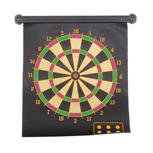 Dart Board Game Roll-Up Magnetic 2 Sided Dartboard Bullseye Target Plus 6 Child Safe Darts