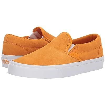 Vans Classic Slip-Ontm ((Soft Suede) Zinnia/True White) Skate Shoes