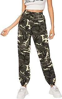 d0549f6073df Envío GRATIS por Amazon. SOLY HUX - Pantalones para Mujer, elásticos, con  Bolsillos Laterales y Cadena, diseño
