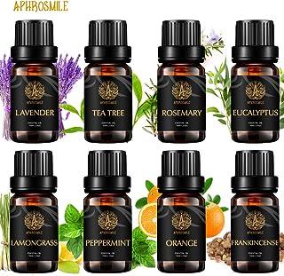 Aromatherapy Essential Oils Set, 100% Pure Essential Oils Kit - Peppermint, Orange, Eucalyptus, Lavender, Frankincense, Ro...