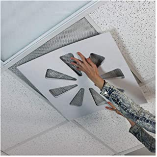 Wooden Shoe Designs Adjustable Air Conditioning Vent Cover - Air Deflector for Office Ceiling Vents - Control Office Air - Vent Damper, AC Vent Deflector