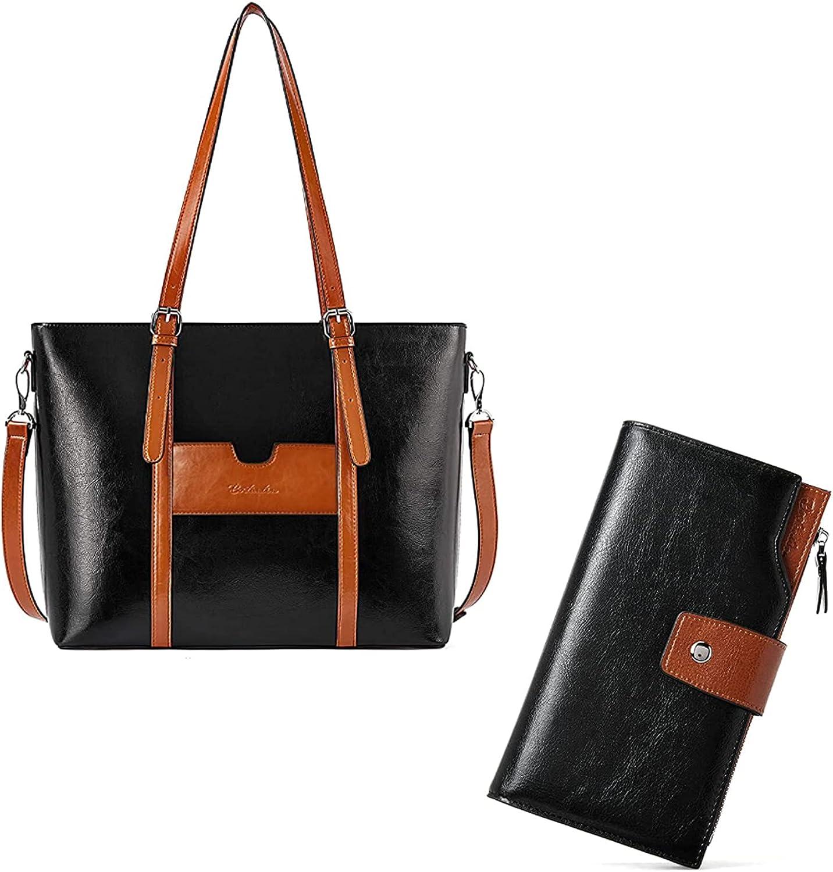 OFFicial mail order BOSTANTEN Women Leather Laptop Tote Shoulder Office Handbag Vint gift