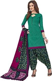 Jevi Prints Women's Cotton Printed Readymade Stitched Salwar Suit Dupatta (SUIT_CP-230)