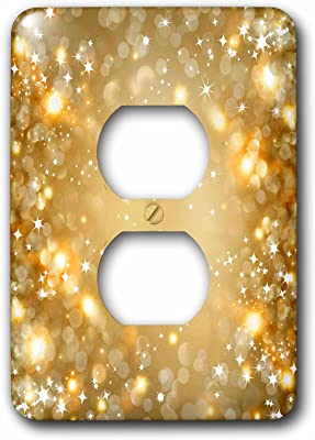 Purple 3D Rose LSP/_253007/_6 Pink and Gold Sparkle Galaxy Design 2 Plug Outlet Cover Blue