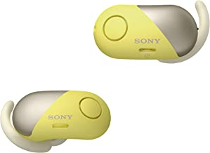 Sony Wireless Bluetooth In Ear Headphones: Noise Cancelling Sports Workout Ear Buds for Exercise and Running - Cordless, Sweatproof Sport Earphones, Built-In Microphone, EXTRA BASS –Yellow WF-SP700N/Y