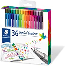 Staedtler Fineline Pen Triplus, 36 Assorted, Brilliant Colours, Set of 36 (334 C36CB)