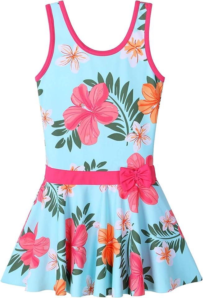 Girls One Piece Swimsuit Hawaiian Watermelon Coconut Tree Ruffle 4Y-12Y Kids Swimwear Beach Bathing Suit