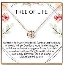 Dear Ava Tree of Life Necklace Gift: Family Tree Necklace, Pendant, Charm, Generations, Tree