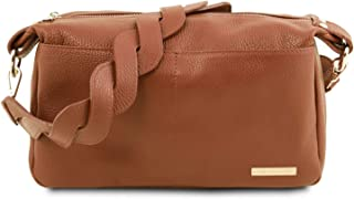 Tuscany Leather TLBag Soft Leather Duffle Bag - TL141746 (Cognac)