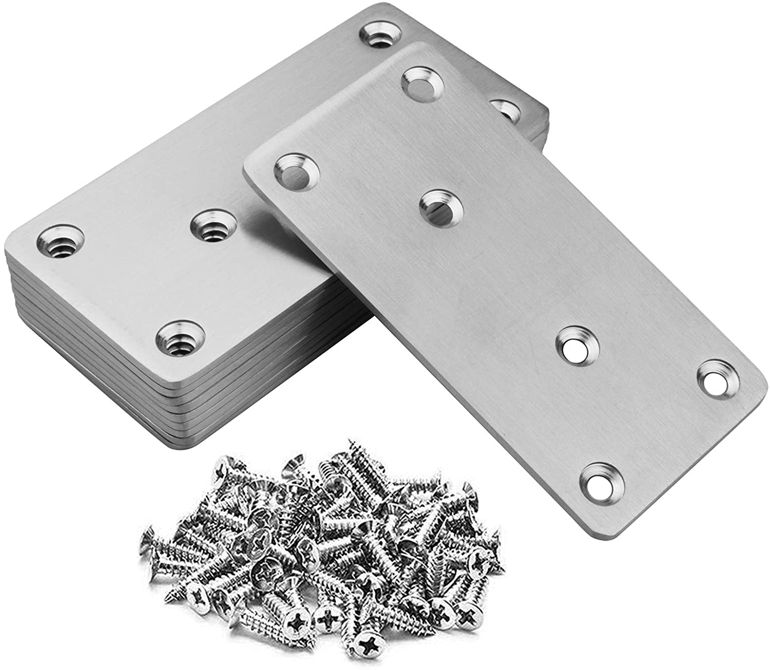 10 Pack Flat Mending Los Angeles Mall Plate Br Straight Free shipping 201 Stainless Steel