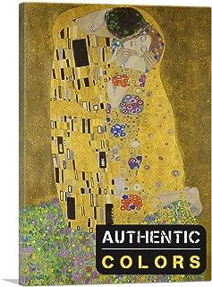 ARTCANVAS The Kiss - Rectangle 1907 Canvas Art Print (Authentic Colors) by Gustav Klimt- 26