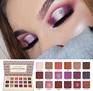 Flurries ❦ 18 Colors Eyeshadow Palette Set Pigmented New Nude Sequins Glitter Shiny Eye Shadow Makeup Pallet Warm Color Neutrals Golden Powder Long Lasting Shimmer Cosmetics