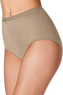 Women`s Set of 6 Full-Cut-Fit Stretch Cotton Brief