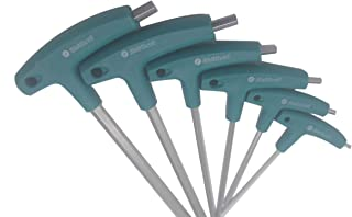 SidiOutil 6pcs Allen Wrench Hex Socket Screwdriver T-Handle Wrench Screws Tool Hex Key T Handle Inner Hexagon Wrench Hand Tool Spanner For Bike Car Tool