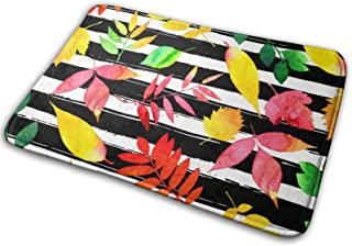 Autumn Leaves Bath Mat Polyester Front Door Mat Bathroom Rugs Carpet for Inside Outdoor 15.7 X 23.5 in