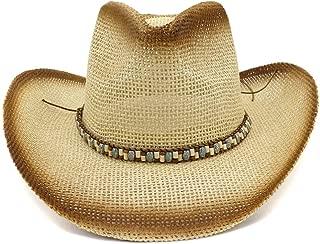 LiWen Zheng Fashion 2019 Spray Paint Cowboy Straw Hat Women Outdoor Color Braided Rope Decoration Men's Sun Hat Beach Hat Visor