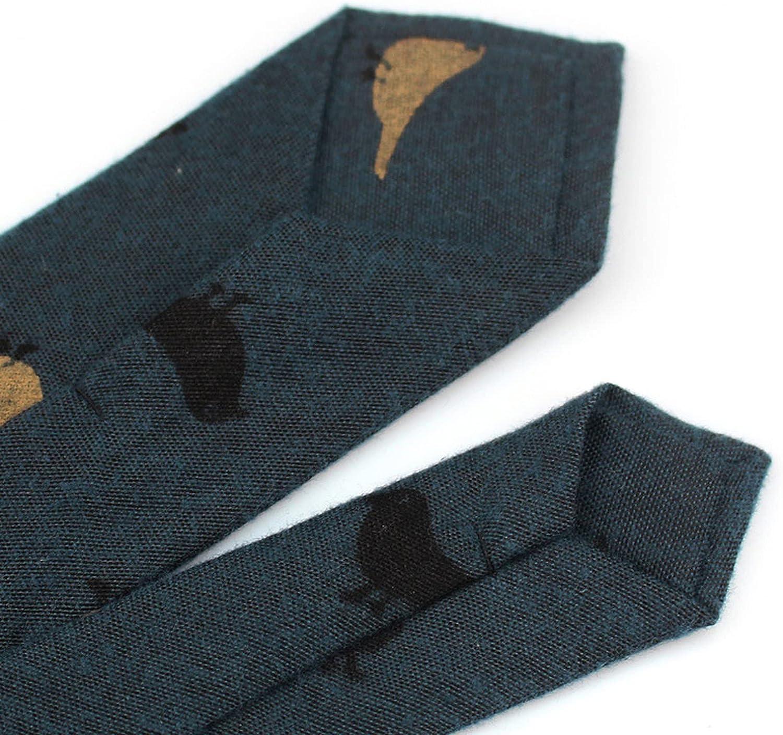 Fashion Ties Men Cotton Narrow Tie Skinny Cravat Neckties Winter Party Casual Printed Neck Neckwear