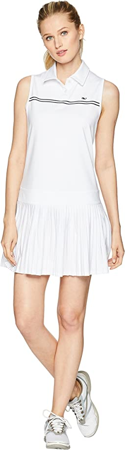 Double Stripe Pleated Sport Dress