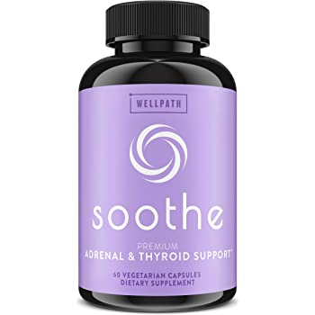 Soothe Thyroid Support and Adrenal Support Supplement - 2 in 1 Natural Formula to Support Energy, Metabolism, Adrenal Fatigue Response, Stress Response, and Cortisol Balance