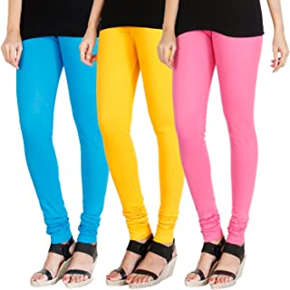 HRINKAR® Soft Cotton Lycra Plain girls leggings combo Pack of 3 Size - L, XL, XXL - HLGCMB-GRP013